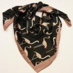 Apaszka flamingi czarna (3)