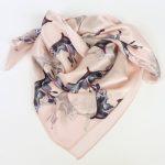 Apaszka jedwabna różowa lilie (4)