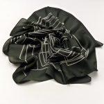 Apaszka labirynt czarna