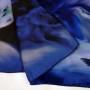 Cieniowany szalik jedwabny niebieski (1)
