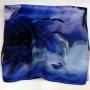 Cieniowany szalik jedwabny niebieski (3)