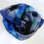 Cieniowany szalik jedwabny niebieski (6)