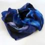 Cieniowany szalik jedwabny niebieski (7)