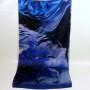 Cieniowany szalik jedwabny niebieski