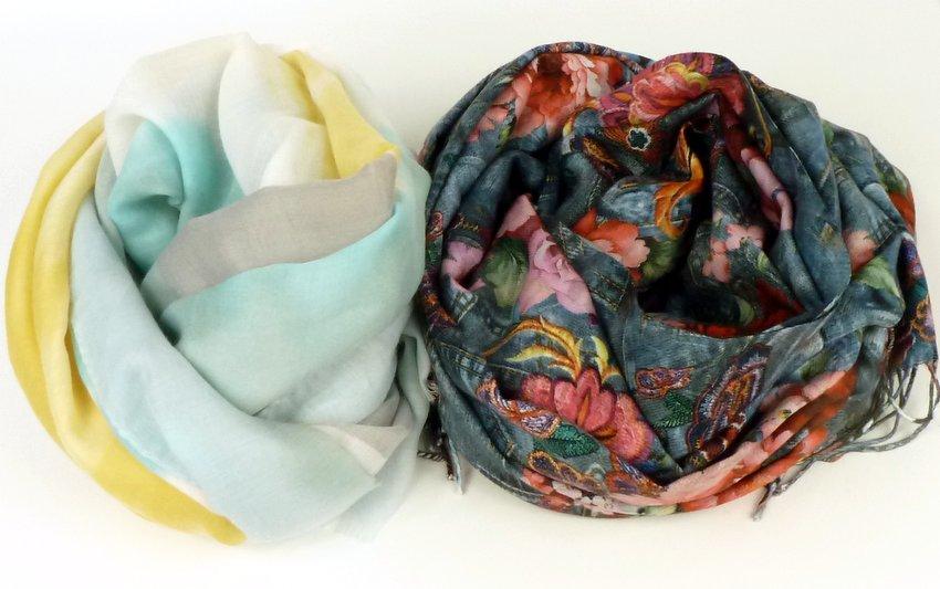 Cienki i grubszy szal z wiskozy - różnica w tkaniu