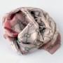 Cienki szal pętelki różowy (2)