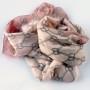 Cienki szal pętelki różowy (3)