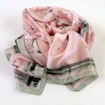 Cienki szal różowy wektory (1)