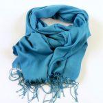 Cienki szalik niebieski (1)