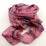 Cienki szalik różowy (1)
