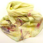 Cienki szalik rozmyte kwiaty cytrynowy (1)