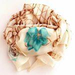 Elegancki szal jedwabny kremowy (5)