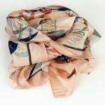 Elegancki szal z jedwabiem różowy