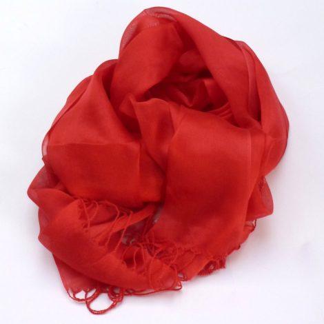 Szal do sukienki czerwony