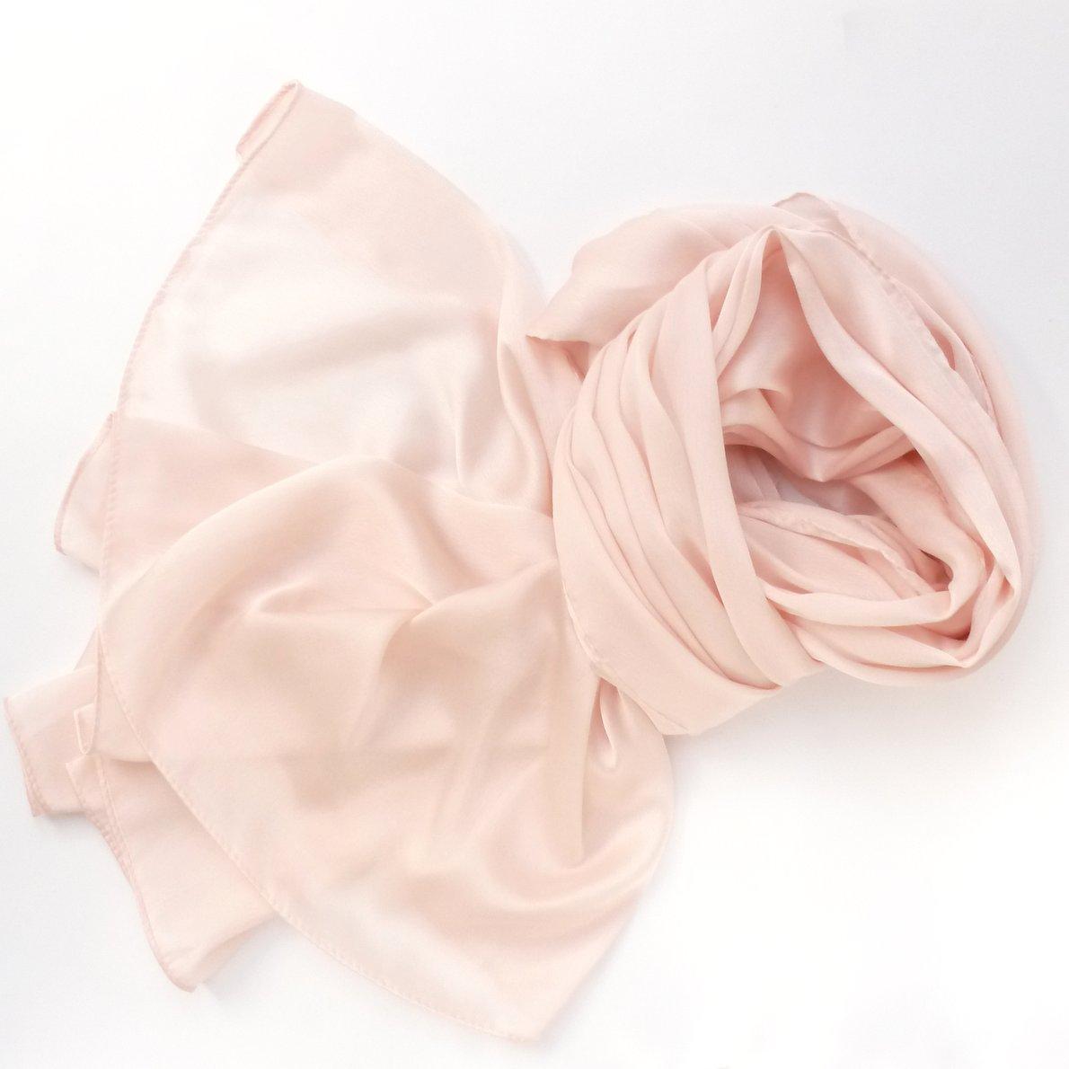 Ogromny Szal do sukienki pastelowy różowy   Szal-Komin.pl TD32