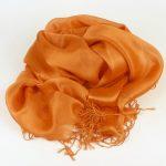 Szal do sukienki pomarańczowy (5)