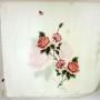 Szal jedwabny ecru z różą