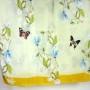 Szal jedwabny kwiaty i motyle seledynowy