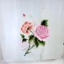 Szal jedwabny szary z różą (1)