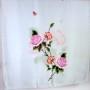 Szal jedwabny szary z różą (2)