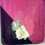 Szal jedwabny z różami różowo-granatowy (2)