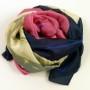 Szal jedwabny z różami różowo-granatowy (4)