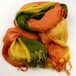 Szal pareo pomarańczowo-żółto-zielony (5)