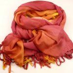 Szal pareo różowo-pomarańczowy (4)