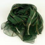 Szal wizytowy krata zielony (4)
