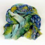 Szalik kwiaty łąka niebieski (1)