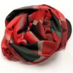 Szalik w kratkę czerwono-czarny (2)