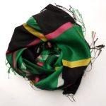Szalik w kratkę zielono-czarny (1)