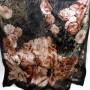Włoska apaszka jedwabna kwiaty czarna (6)